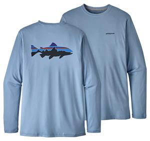Patagonia Mens Graphic Tech Fish Tee Fitz Roy Trout