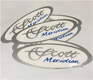 Scott Meridian Oval Decal