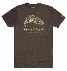 Simms Trout River Camo T Shirt