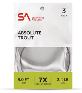 SA Absolute Trout Leaders 3 Pack