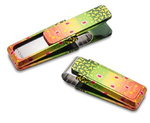 M Clip : Anodized Brook Trout Money Clip