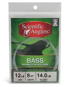 Scientific Anglers Bass Nylon Leader 2-Pack