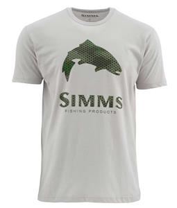 Simms Hex Camo Trout Logo SS T