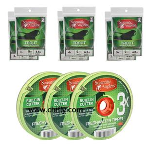 SA Leader and Tippet Pack - 3X-4X-5X