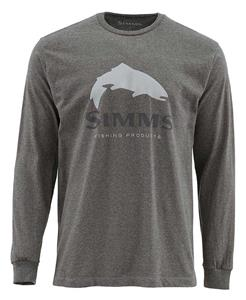 Simms Trout Logo LS Tee