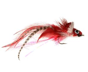Diving Pike Fly - Red and White
