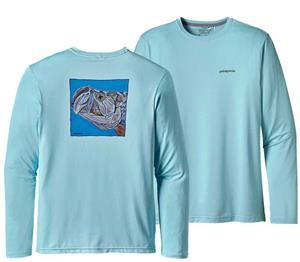 Patagonia Mens Graphic Tech Fish Tee Tarpon Eat