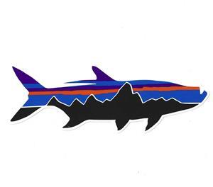 Patagonia fitz roy tarpon sticker accessories chicago for Patagonia fish sticker