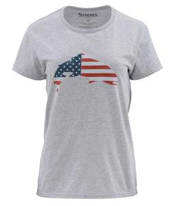 Simms Womens USA Flag Trout SS T